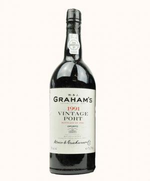 1991 metu vynas. Graham's Vintage Porto vynas