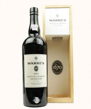 2001 metų vynas. Warre's Quinta Da Cavadinha Portveinas
