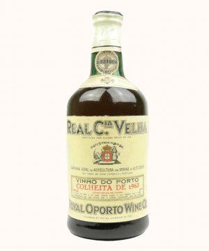 1963 metų vynas. Real Companhia Velha Baltas Porto Vynas